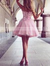 A-line Sweetheart Satin Short/Mini Ruffles Prom Dresses #Favs020105931