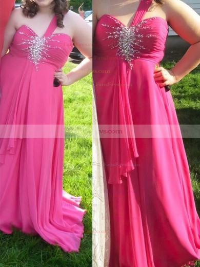 A-line Sweetheart Chiffon Floor-length Beading prom dress #Favs020105996
