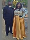 A-line Scoop Neck Satin Floor-length Appliques Lace prom dress #Favs020106029
