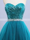 Princess Sweetheart Tulle Sequined Floor-length Beading Prom Dresses #Favs020102908