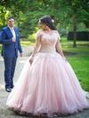 Princess Off-the-shoulder Tulle Floor-length Appliques Lace prom dress #Favs020106008
