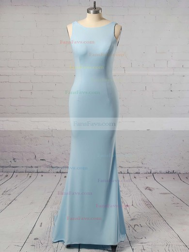 Trumpet/Mermaid Scoop Neck Sweep Train Silk-like Satin Prom Dresses #Favs020106042