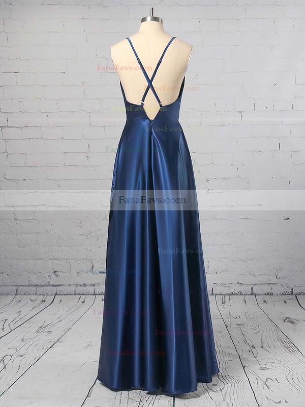 Sheath/Column Cowl Neck Silk-like Satin Ankle-length Split Front Prom Dresses #Favs020106046