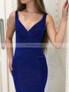 Trumpet/Mermaid V-neck Velvet Floor-length Ruffles Prom Dresses #Favs020106073