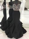 Trumpet/Mermaid Sweetheart Satin Floor-length Beading Prom Dresses #Favs020106088