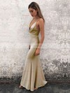 Trumpet/Mermaid V-neck Jersey Ankle-length Split Front Prom Dresses #Favs020106093