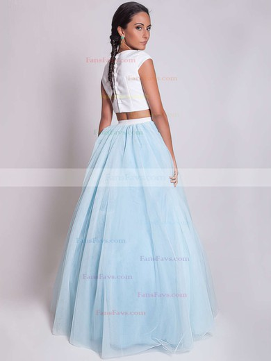 Ball Gown Scoop Neck Satin Tulle Floor-length Prom Dresses #Favs020103301