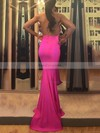 Trumpet/Mermaid Halter Sweep Train Jersey Prom Dresses #Favs020105659