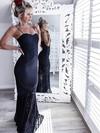 Sheath/Column Sweetheart Lace Floor-length Prom Dresses #Favs020105557