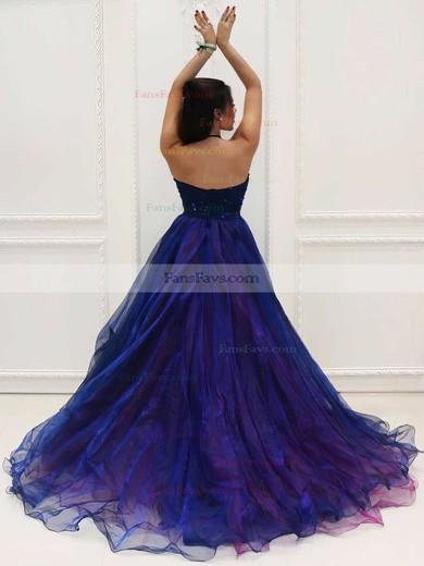 Princess Halter Organza Asymmetrical Beading Prom Dresses #Favs020103198