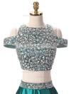 A-line Scoop Neck Satin Floor-length Crystal Detailing Prom Dresses #Favs020103343