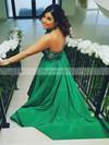 Princess Halter Satin Sweep Train Appliques Lace Prom Dresses #Favs020105663