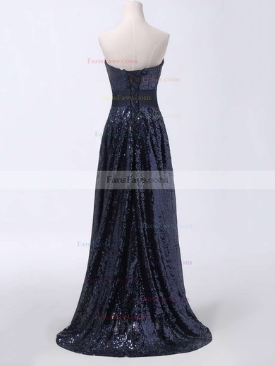 A-line Sweetheart Asymmetrical Sequined Prom Dresses with Sashes #Favs020103165