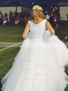 Ball Gown V-neck Tulle Floor-length Crystal Detailing Prom Dresses #Favs020105414
