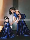 Trumpet/Mermaid Halter Velvet Court Train Prom Dresses #Favs020103714