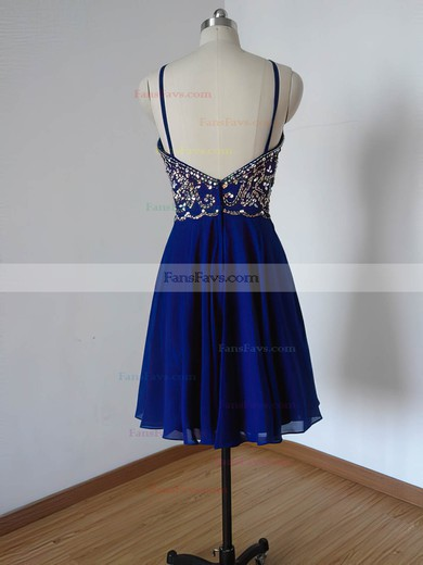 A-line Scoop Neck Short/Mini Chiffon Prom Dresses with Beading #Favs020102113