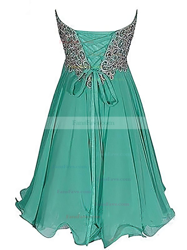 Empire Sweetheart Short/Mini Chiffon Prom Dresses with Embroidered Sequins #Favs020102561
