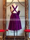 Hot A-line V-neck Chiffon Knee-length Ruffles Red Backless Prom Dresses #Favs020102648