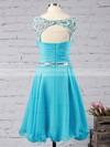 Short/Mini A-line Scoop Neck Chiffon Beading Sweet Prom Dresses #Favs020102720