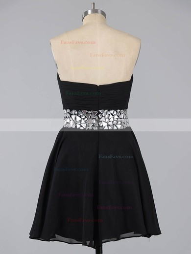A-line Sweetheart Chiffon Short/Mini Crystal Detailing Homecoming Dresses #Favs02041948