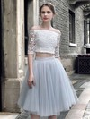 Princess Off-the-shoulder Lace Tulle Knee-length Prom Dresses #Favs020103308