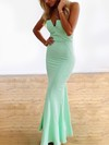 Trumpet/Mermaid Strapless Silk-like Satin Ankle-length Prom Dresses #Favs020104418