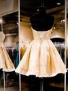 A-line Sweetheart Satin Short/Mini Pearl Detailing Popular Prom Dresses #Favs020102464