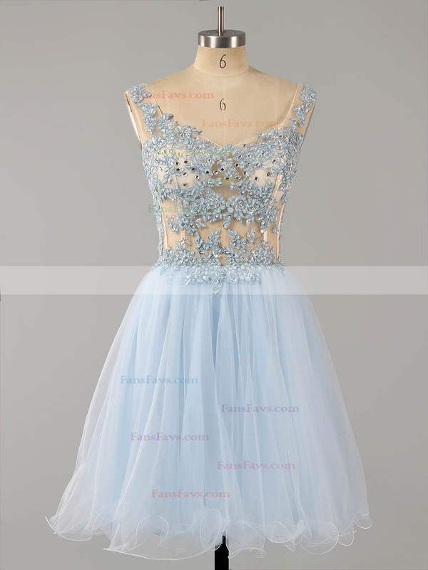 Sexy Short/Mini A-line Tulle Appliques Lace Off-the-shoulder Homecoming Dresses #Favs020101466