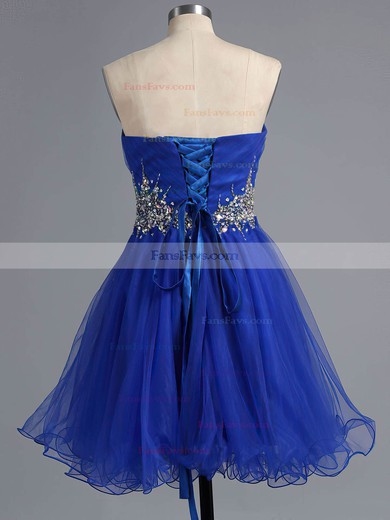 A-line Sweetheart Short/Mini Tulle Prom Dresses #Favs020101916