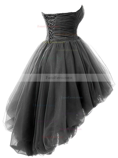 Princess Sweetheart Asymmetrical Tulle Prom Dresses with Beading Ruffle #Favs020102748