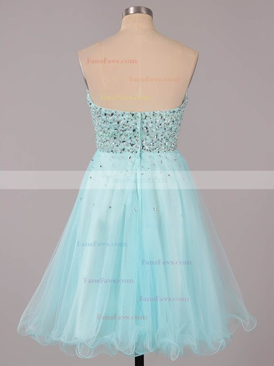 A-line Sweetheart Tulle Short/Mini Ruffles Homecoming Dresses #Favs02051314
