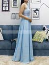 A-line V-neck Chiffon Floor-length Beading Prom Dresses #Favs020105038