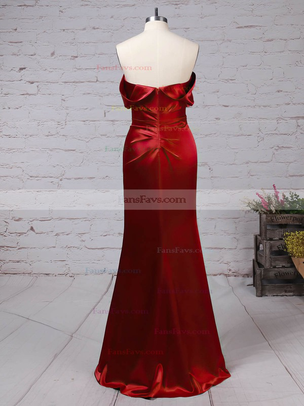 A-line Off-the-shoulder Silk-like Satin with Ruched Prom Dress #Favs020105047