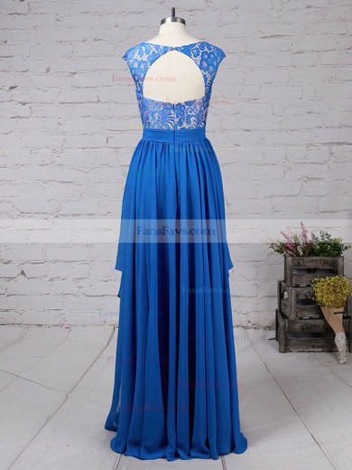 A-line V-neck Lace Chiffon with Beading Prom Dress #Favs020105064