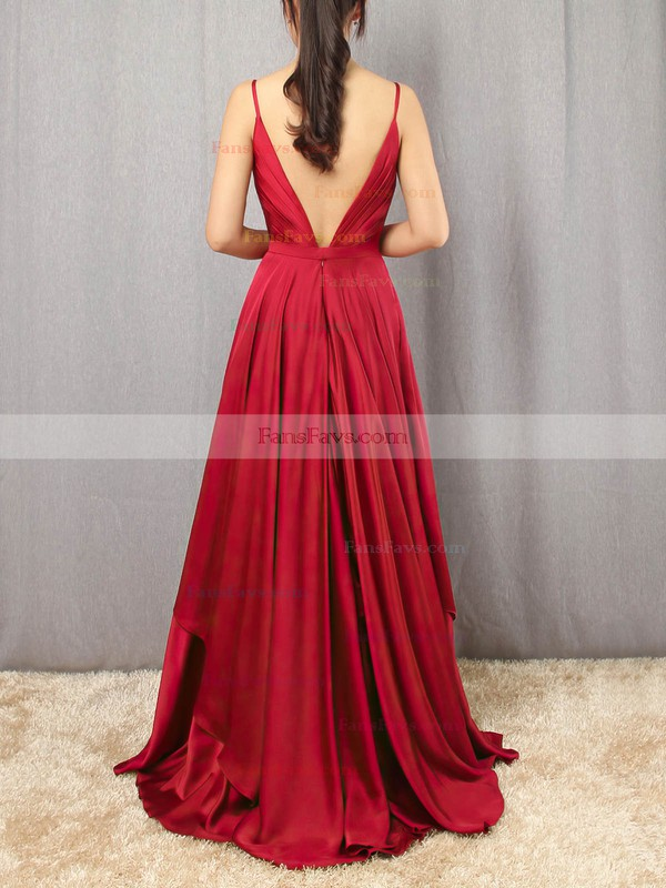 A-line V-neck Satin Chiffon with Sashes / Ribbons Prom Dress #Favs020105086