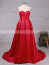 Ball Gown Sweetheart Satin with Ruched Prom Dress #Favs020105104