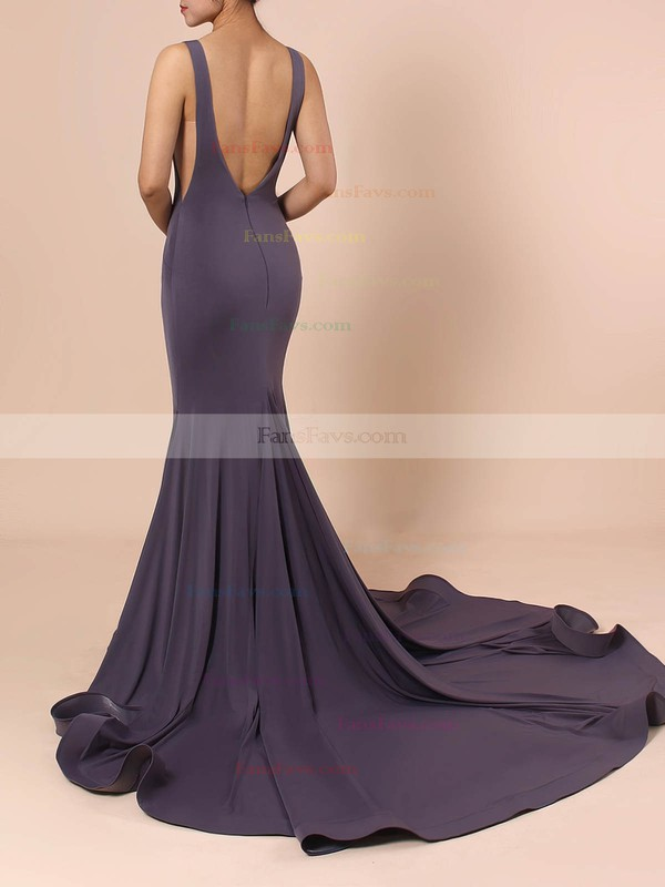 Trumpet/Mermaid V-neck Jersey Prom Dress #Favs020105110