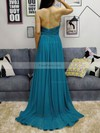 A-line Halter Chiffon Sweep Train Ruffles Prom Dresses #Favs020105130