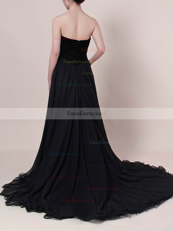 Ball Gown V-neck Organza Velvet Sweep Train Prom Dresses #Favs020105825