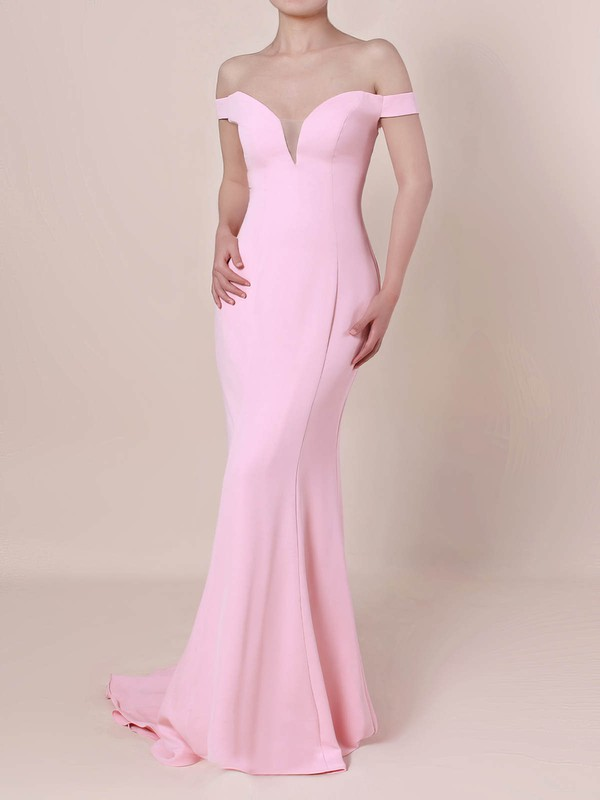 Trumpet/Mermaid Off-the-shoulder Silk-like Satin with Draped Prom Dress #Favs020105833