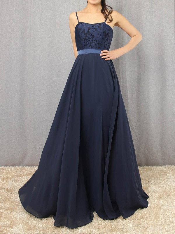 A-line Scoop Neck Chiffon with Appliques Lace Prom Dress #Favs020105862