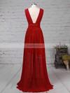 A-line V-neck Chiffon with Ruffles Prom Dress #Favs020105865