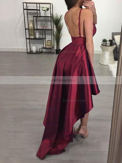 A-line V-neck Satin Prom Dress #Favs020105866