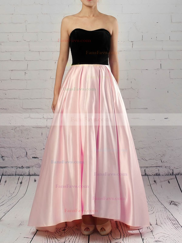 Ball Gown Strapless Satin with Pockets Prom Dress #Favs020105911