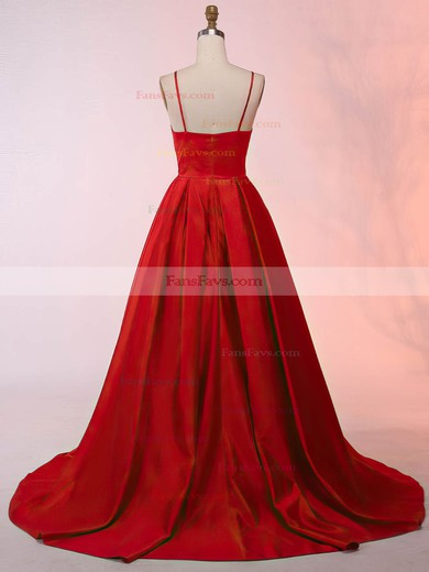 Ball Gown Scoop Neck Satin Asymmetrical Prom Dresses #Favs020105912
