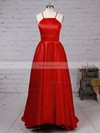 Ball Gown Scoop Neck Satin Prom Dress #Favs020105912
