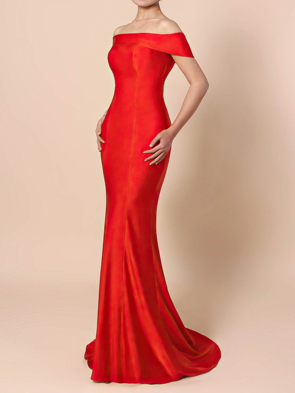 Sheath/Column Off-the-shoulder Jersey Prom Dress #Favs020105918