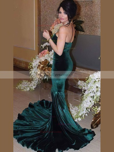 Trumpet/Mermaid Sweetheart with Velvet Prom Dresses #Favs020106124