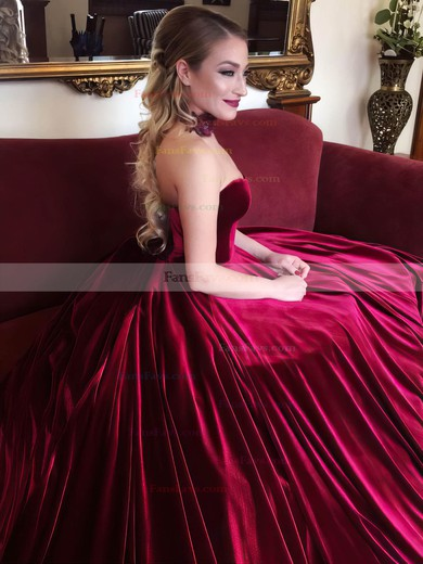 Ball Gown Sweetheart Velvet Prom Dresses #Favs020106125