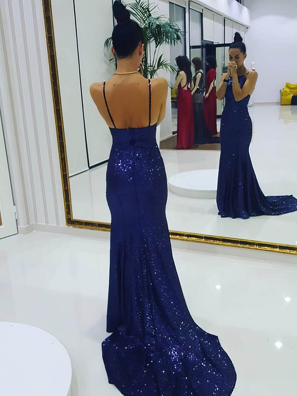 Trumpet/Mermaid Scoop Neck Sequined Prom Dresses #Favs020106172